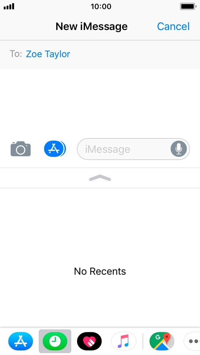 Write And Send An Imessage Apple Iphone Se Ios 110 Telstra