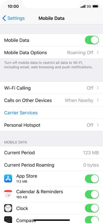 The total data usage is displayed next to Current Period.