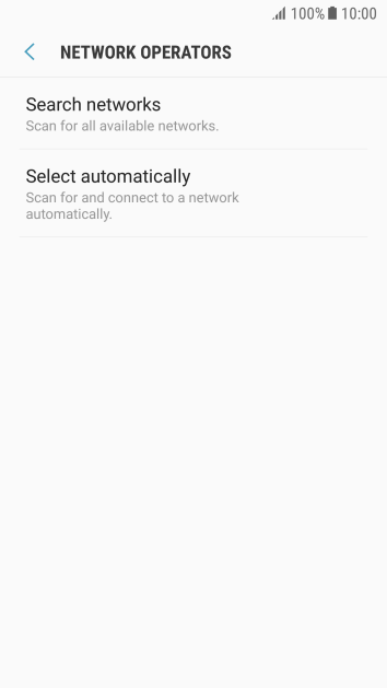 If you want to select a network automatically, press Select automatically.