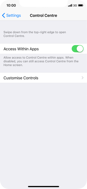 Press Customise Controls.