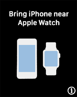 Place your Apple Watch next to your phone.