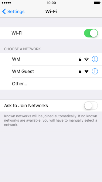 Press the required Wi-Fi network and key in the password for the Wi-Fi network.