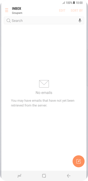 Press the new email message icon.