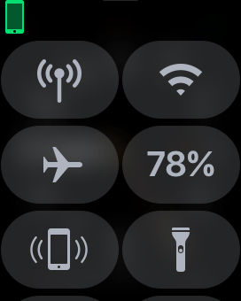 Press the flight mode icon to turn the function on or off.