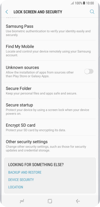 Press Other security settings.