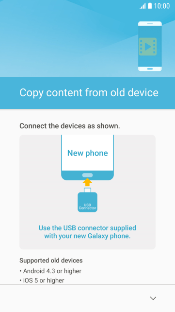Follow the instructions on the screen to connect your phone to the other phone.