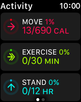 Keep sliding upwards to see the number of steps, distance and number of floors you've covered.