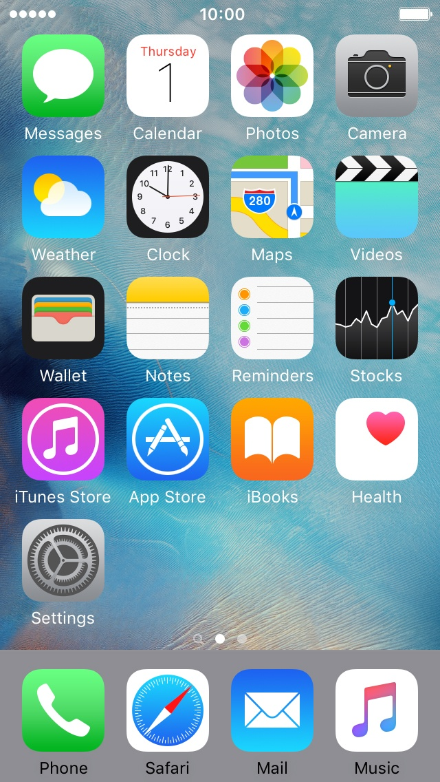 Iphone 5 home screen pictures.