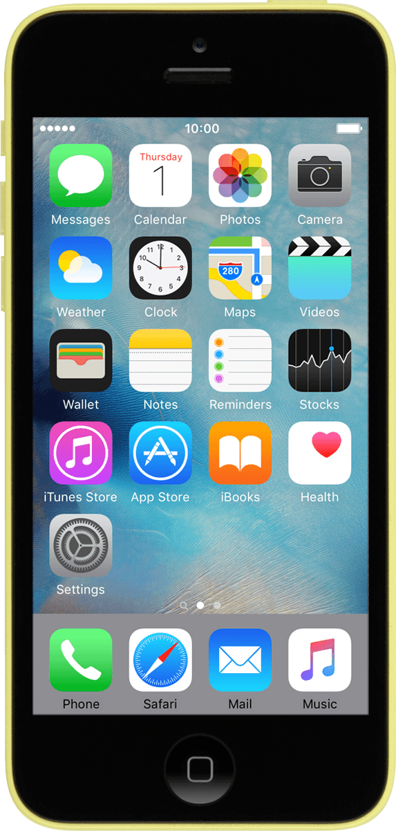 how to delete info on iphone 5c