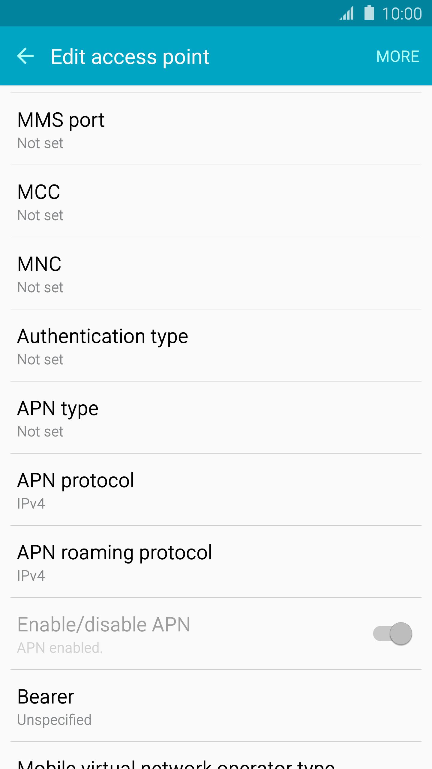 Windows 10 tab EE Internet APN settings - APN Settings UK