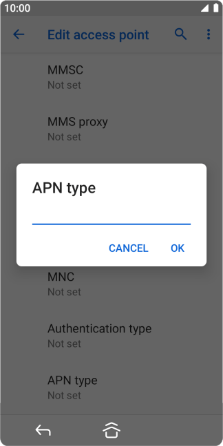 Key in mms and press OK.