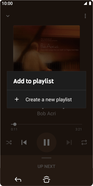 Press Create a new playlist.