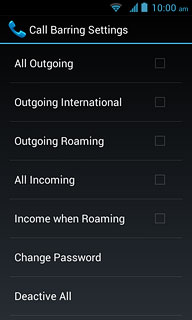 how to turn off call barring