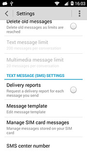 Set up your phone for text messaging - Huawei Ascend Y530