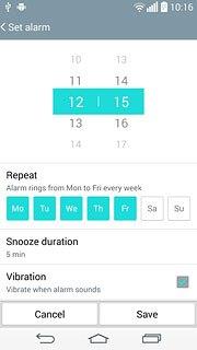 Set an alarm - LG G3 - Telstra