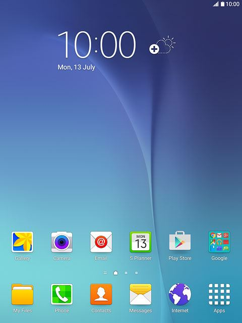 How to text on samsung tablet