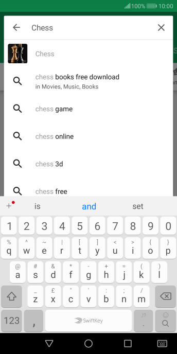 Key in the name or subject of the required app and press the search icon.