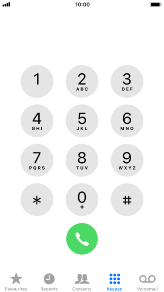 Key in **61*222*20# and press the call icon.