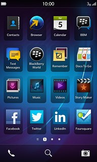 Download and use apps from App World - BlackBerry Z10 - Telstra