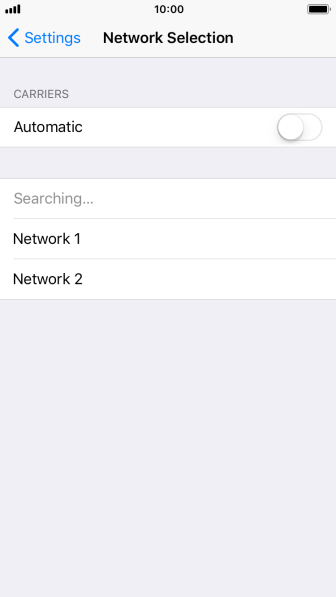 If you turn off the function, press the required network.