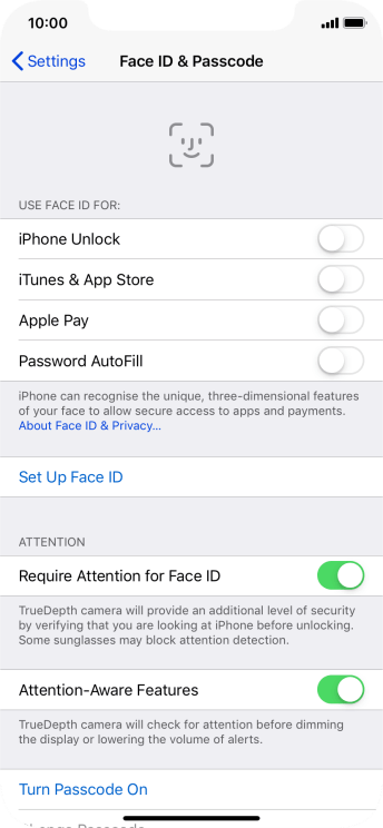 Press Set Up Face ID.