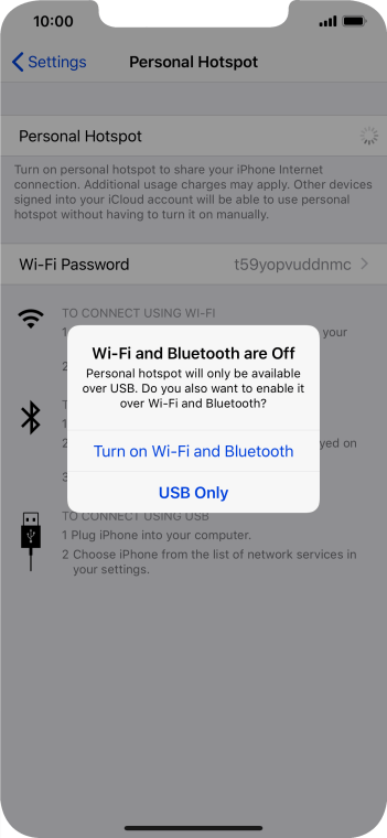 If Wi-Fi is turned off, press Turn on Wi-Fi and Bluetooth.