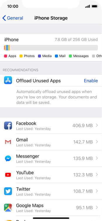 Press the required app.
