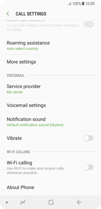 Press Voicemail settings.