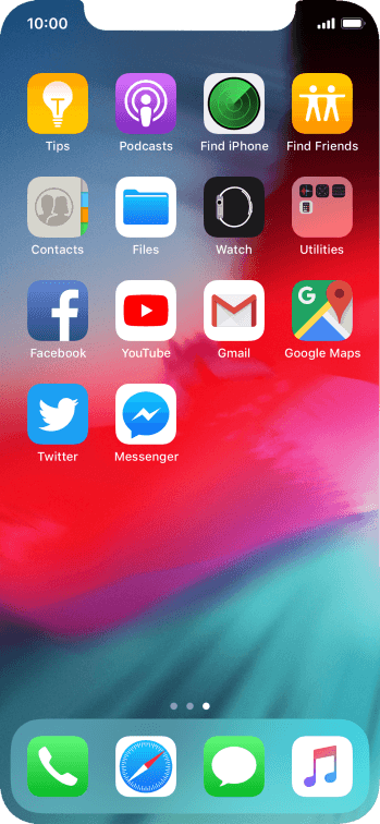 Press and hold the required app until the icons start to jiggle.