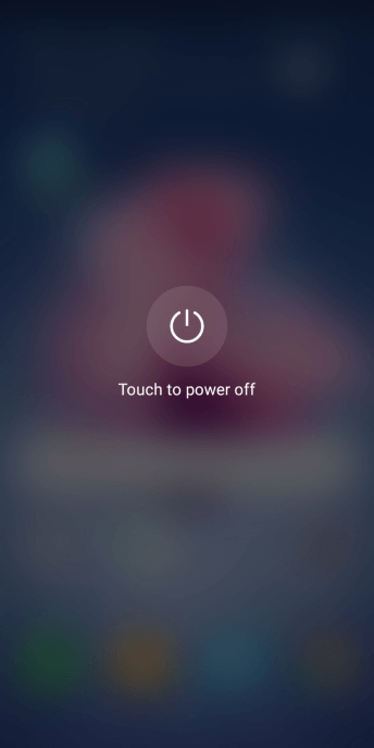 Press Touch to power off.