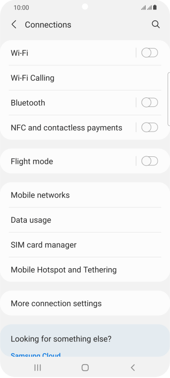 Press Mobile Hotspot and Tethering.