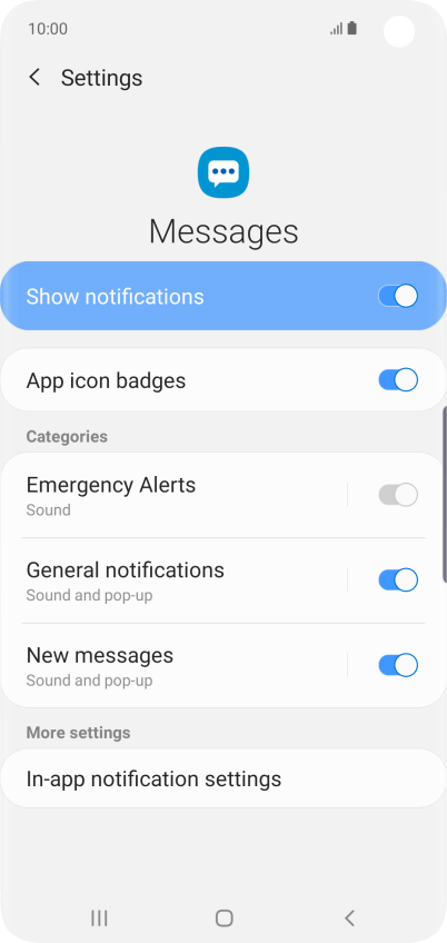 Select message tone on your Samsung Galaxy S10 Android 9 0
