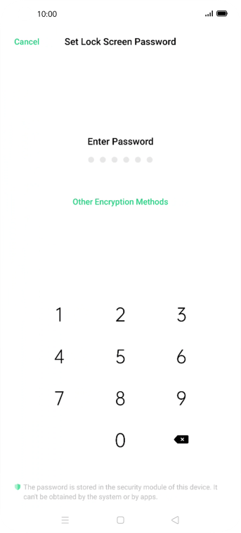 Press Other Encryption Methods.