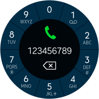 Press the call icon.