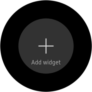 Press the add widget icon.