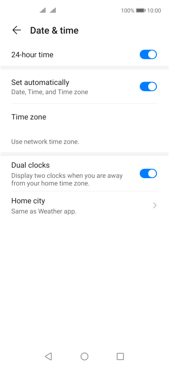 Press the Home key to return to the home screen.
