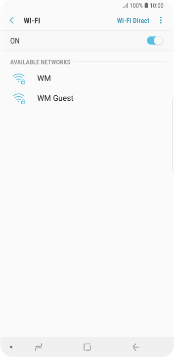 Press the required Wi-Fi network.