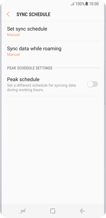 Press Set sync schedule.