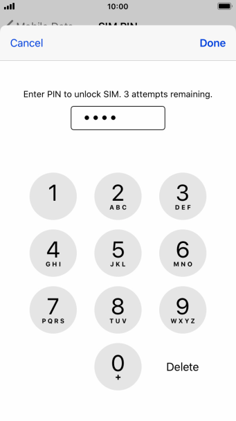 Key in your PIN and press Done. The default PIN is 1111.