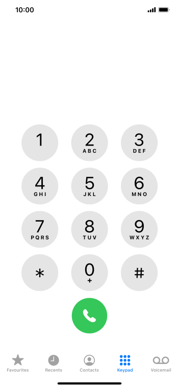 Key in **62*222# and press the call icon.