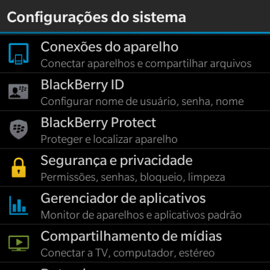 Pressione BlackBerry ID.