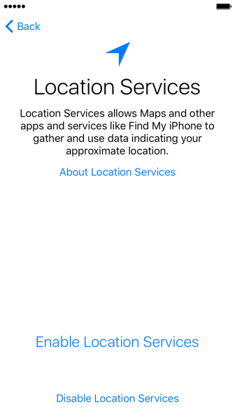 Press Enable Location Services to turn on the function.