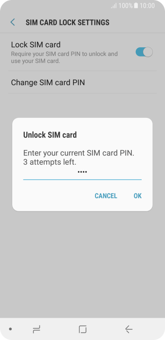 Key in your PIN and press OK. The default PIN is 1111.