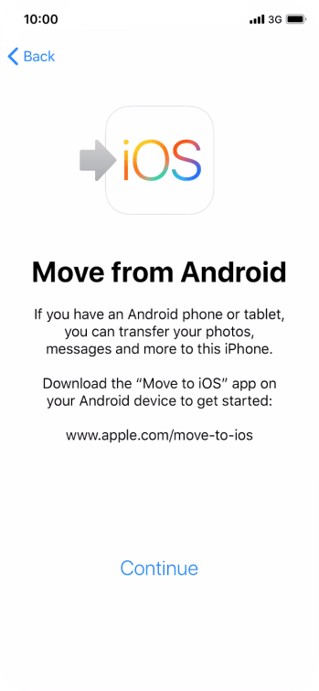 To transfer content to your phone, you need to install the app