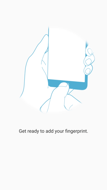 Follow the instructions on the screen to create the phone lock code using your fingerprint.