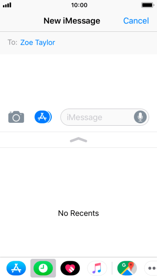 You can also send pictures, video clips, audio files and different effects in your iMessage. Follow the instructions on the screen to send your iMessage with the required content.
