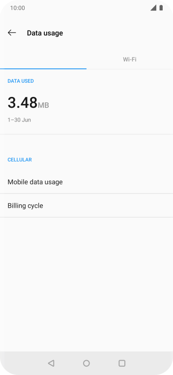 The total data usage is displayed.