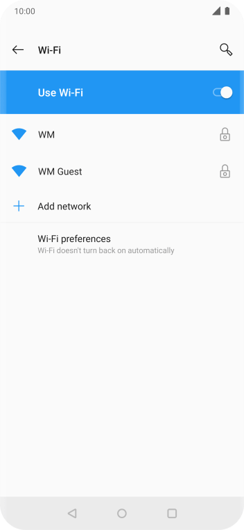 Press Wi-Fi preferences.