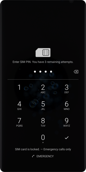 If you're asked to key in your PIN, do so and press the confirm icon. The default PIN is 1111.