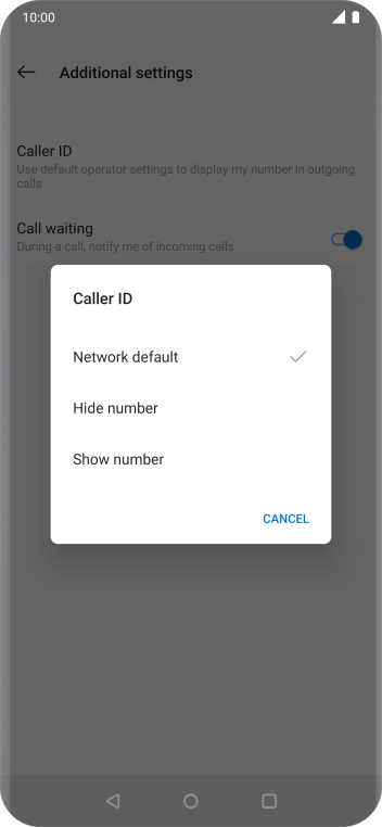 Press Show number to turn on caller identification.